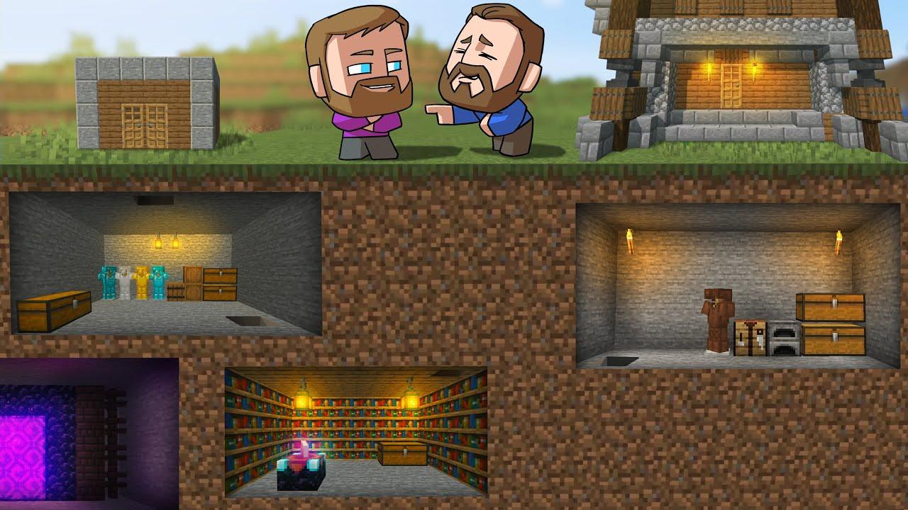 Who Can Build The Best Underground Base?!  Minecraft