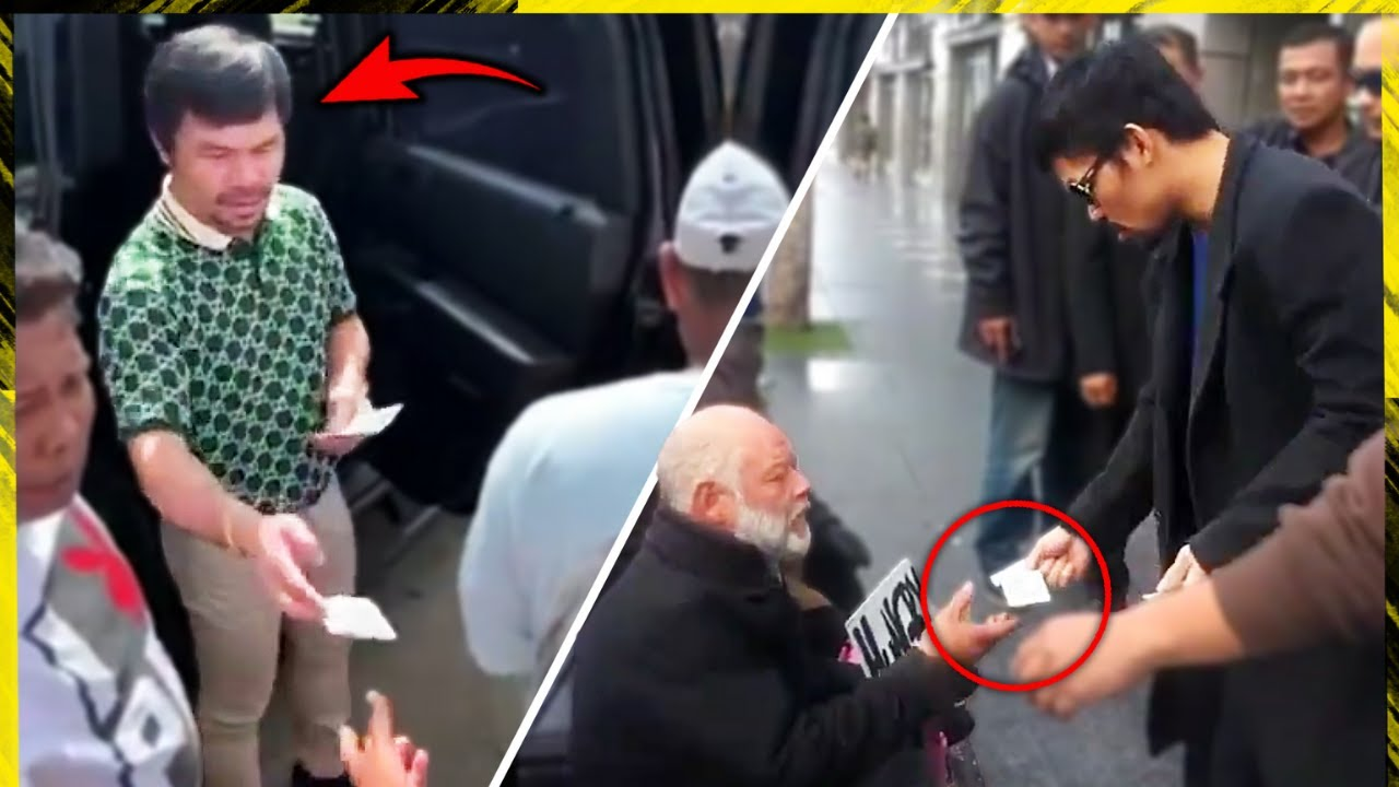 Manny Pacquiao Gives MONEY to Homeless People, Pacquiao Helping The Poor