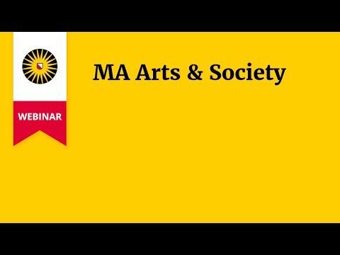 Webinar MA Arts & Society