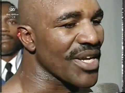 Evander Holyfield Interview after the fight Vs Mike Tyson