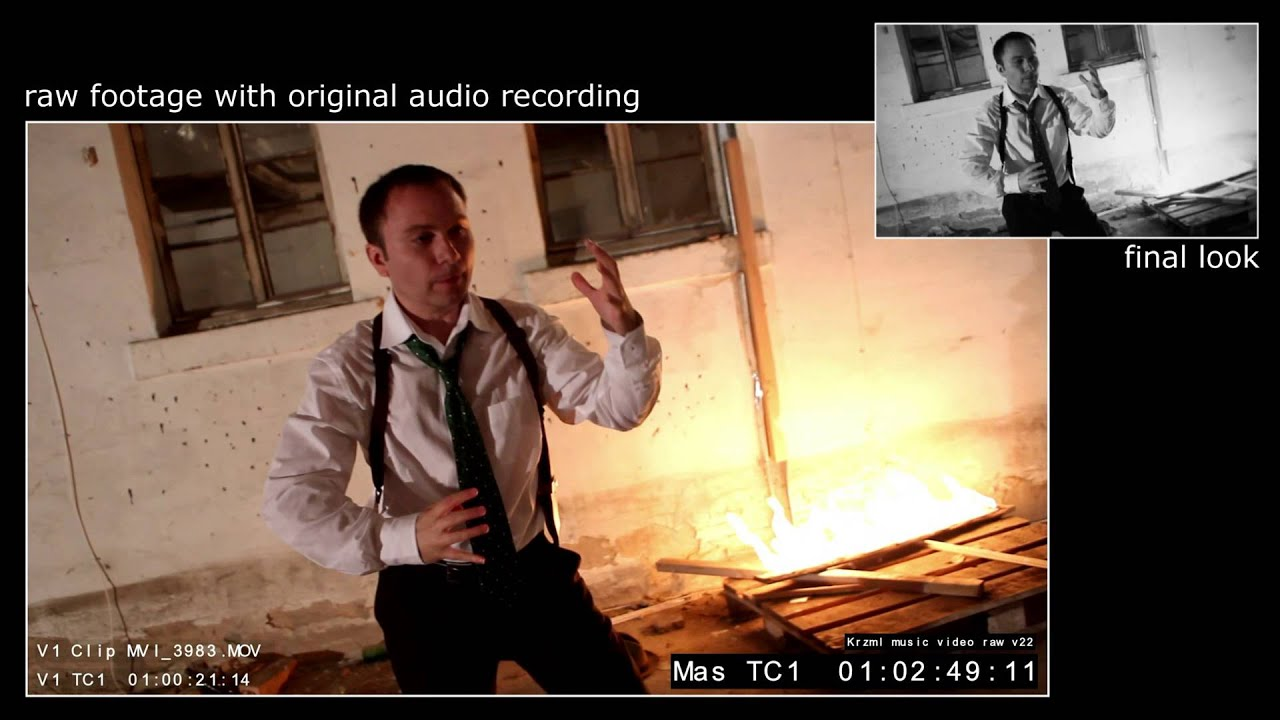 Music Video 'Krzml' - Comparison: Raw Edit vs Final Look