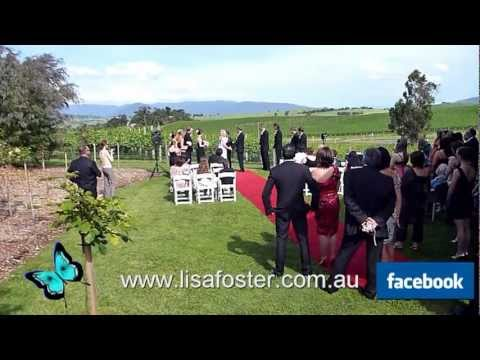 Lisa Foster  Wedding in the  Winery