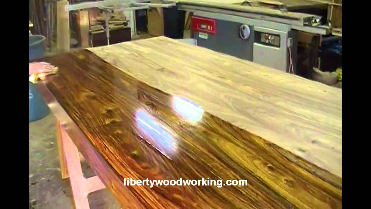 Indian Rosewood Table Made From Local Urban Timber Youtube