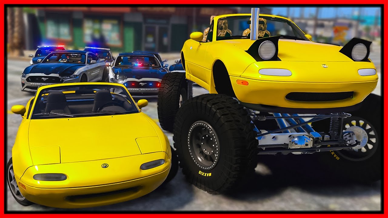GTA 5 Roleplay - I BUILD LIFTED MIATA & CRUSHED COP CARS | RedlineRP