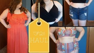 TRY ON HAUL | Forever 21 Plus | Summer Bikini, Crop top & Shorts