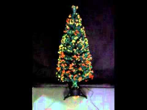 Green Fibre Optic Christmas Tree 150cm - YouTube