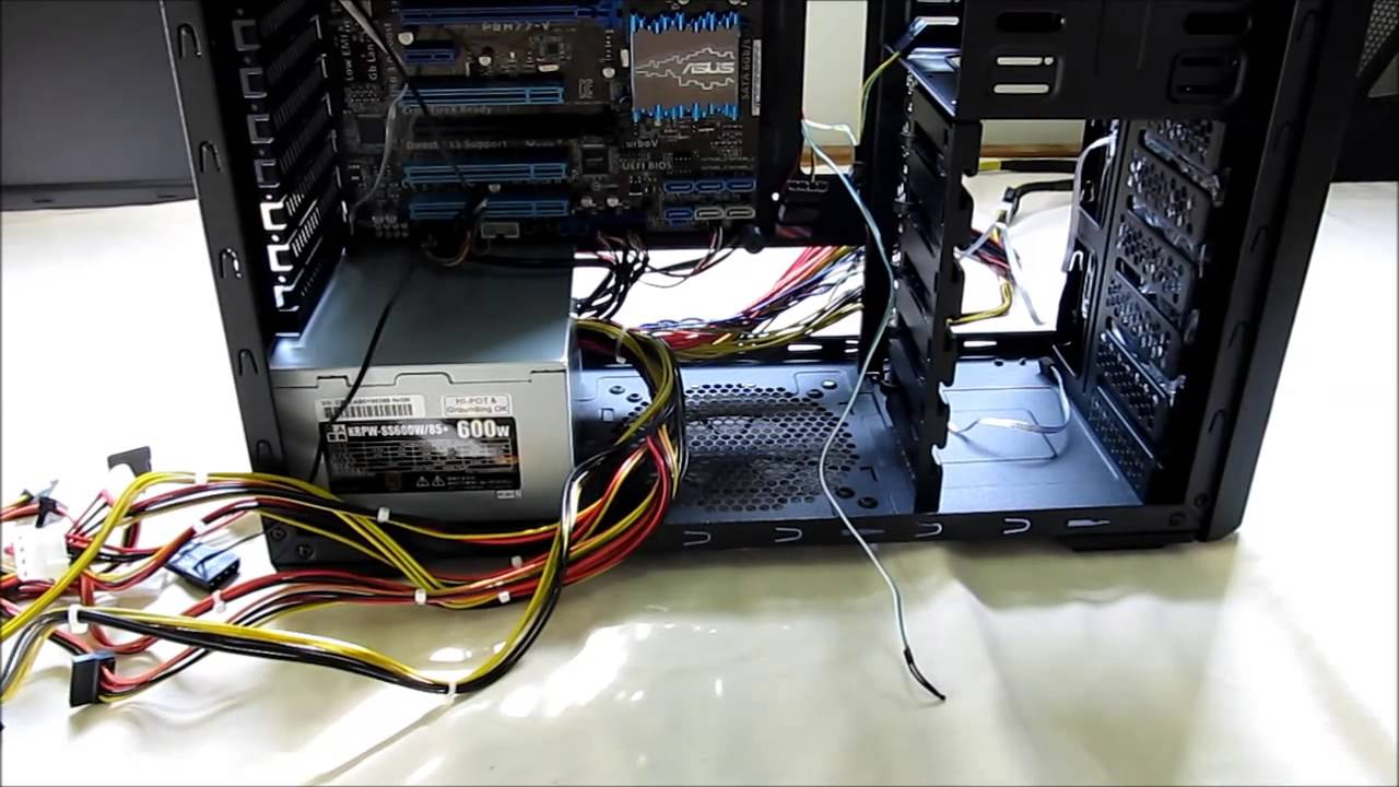 How to connect the power supply unit