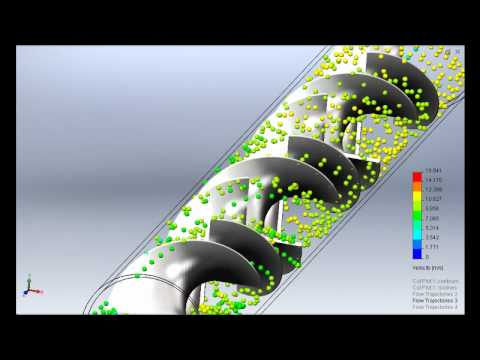 Solidworks Flow Simulation Inline Mixer 6 Elements Youtube