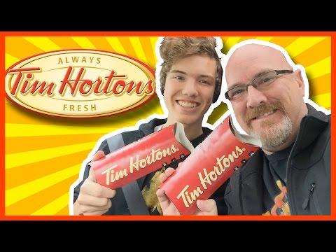 Tim Horton's Chipotle Chicken & Chipotle Steak Wraps Review with Ken & Ben Domik