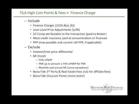 Week 7 - RESPA & TILA - Compliance Mondays