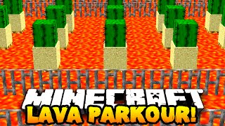 Minecraft LAVA PARKOUR! (Custom Parkour Map!) #1 w/PrestonPlayz, Kenny & PeteZahHutt