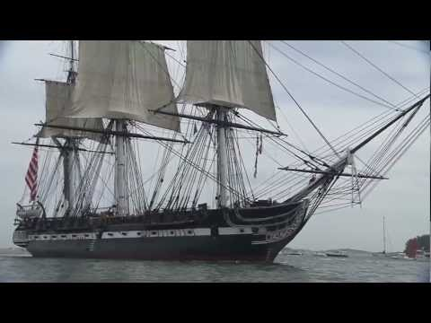 USS Constitution Sets Sail in Boston Harbor on Anniversary of War of 1812 Battle