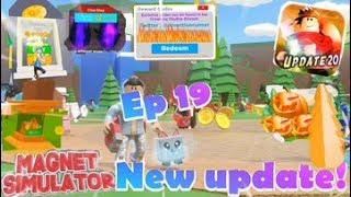 "Roblox- ""Magnet Simulator!"" {Episode 19} New Fall Update And New Codes!!!"