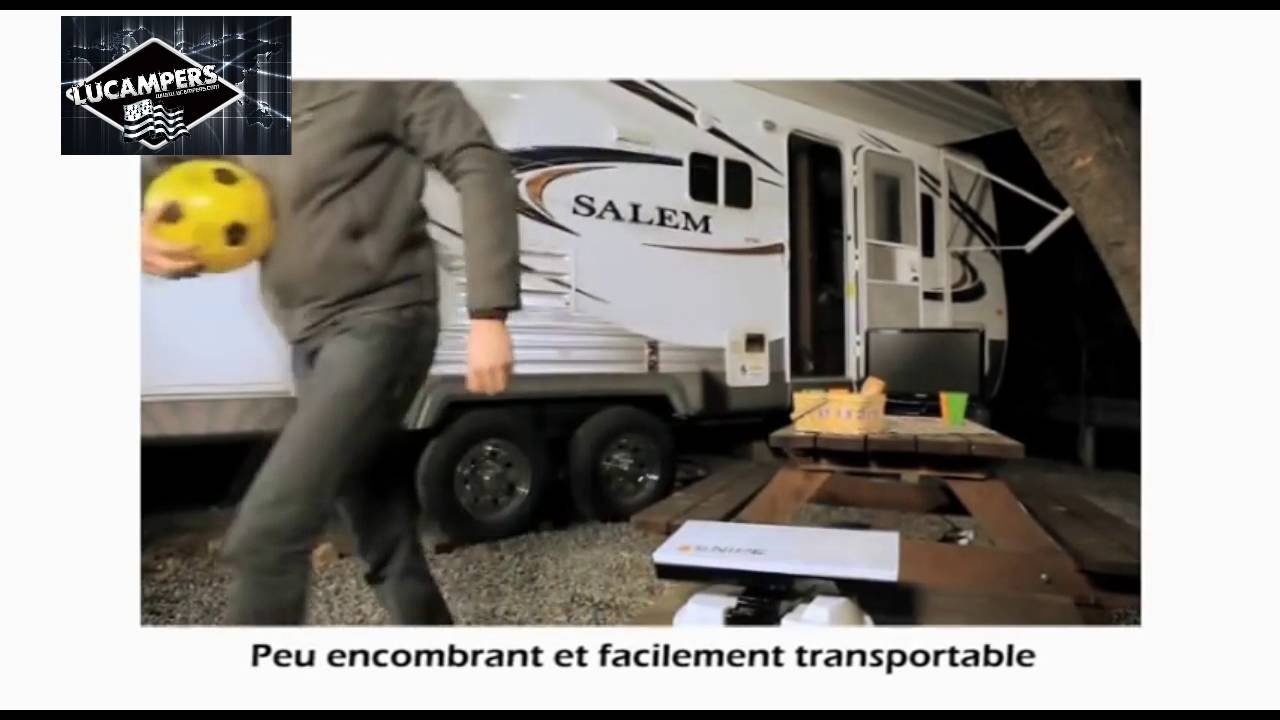 parabole automatique lucampers pour camping car youtube. Black Bedroom Furniture Sets. Home Design Ideas