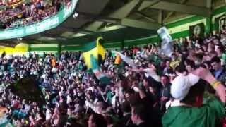 Celtic Fans - Green Brigade .... ToyTown + Passing The Section When Ranjurs Die !