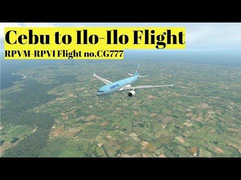X-PLANE 11 | Cebu to Iloilo | Airbus 330 | Scenic Landing