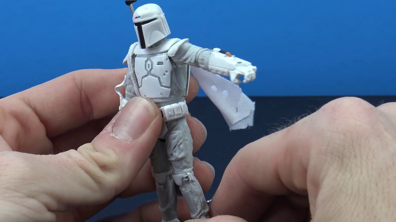 "Star Wars The Black Series Boba Fett Prototype Armor White 3.75/"" Figure New"
