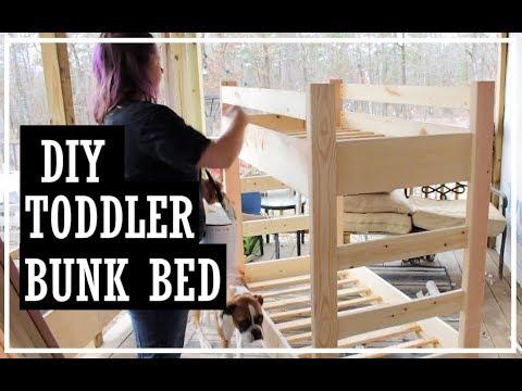 Toddler Bunk Beds Diy Crib Mattress Bunk Bed Build It Yourself Youtube
