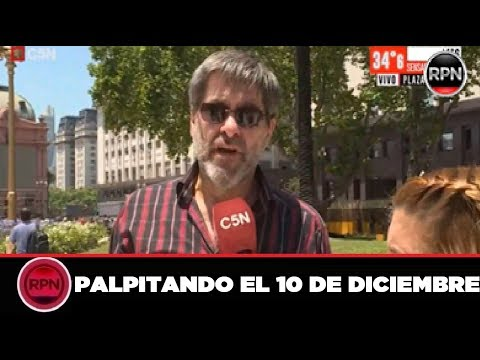 Argentinos de todo el país ya están en Plaza de Mayo  esperando la asunción de Alberto Fernandez