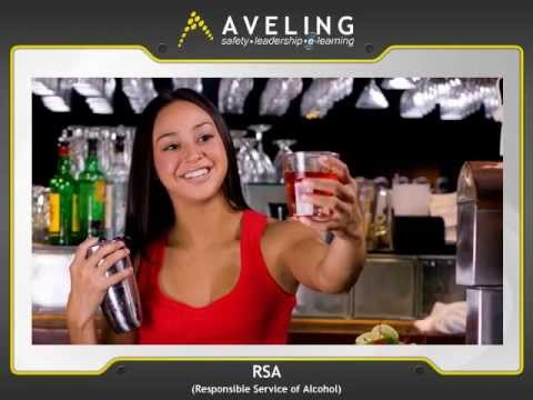 Responsible Service Of Alcohol (RSA) Online Course Demo | AVELING