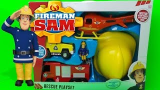 Firefighter Fireman Sam Rescue Playset Unboxing - FEUERWEHRMANN SAM
