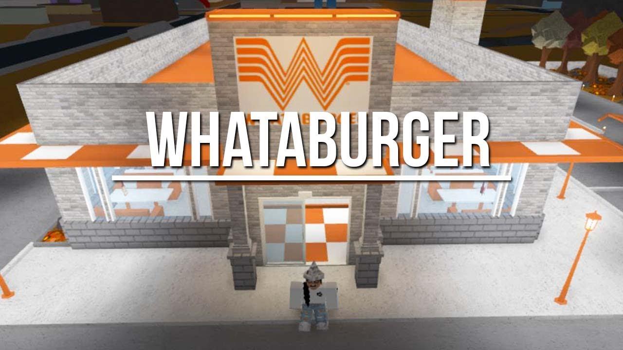 Welcome To Bloxburg: Whataburger 67k - YouTube