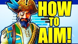 HOW TO AIM LIKE A PRO IN FORTNITE! HOW TO AIM BETTER FORTNITE AIMING TIPS!