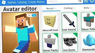 ROBLOX MAKING MINECRAFT AN ACCOUNT!