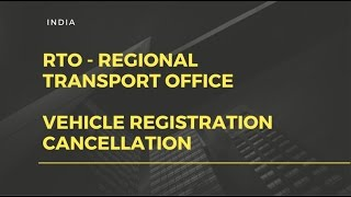 RTO INDIA - Vehicle registration cancellation / submitting RC card . screenshot 3