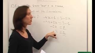 Equation du premier degré à une inconnue