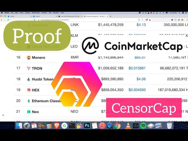 bitcoin hex coinmarketcap)
