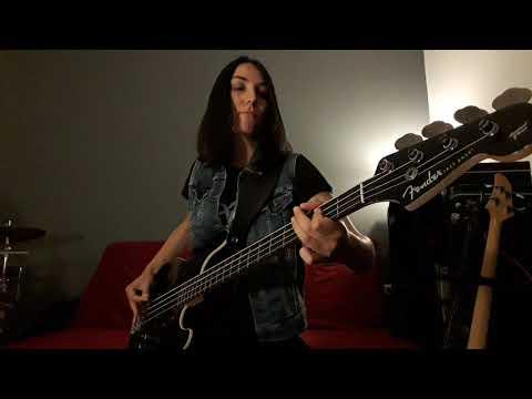 Nightfall - 'Darkness Forever' (2021) Official Bass Playthrough by Vasiliki Biza