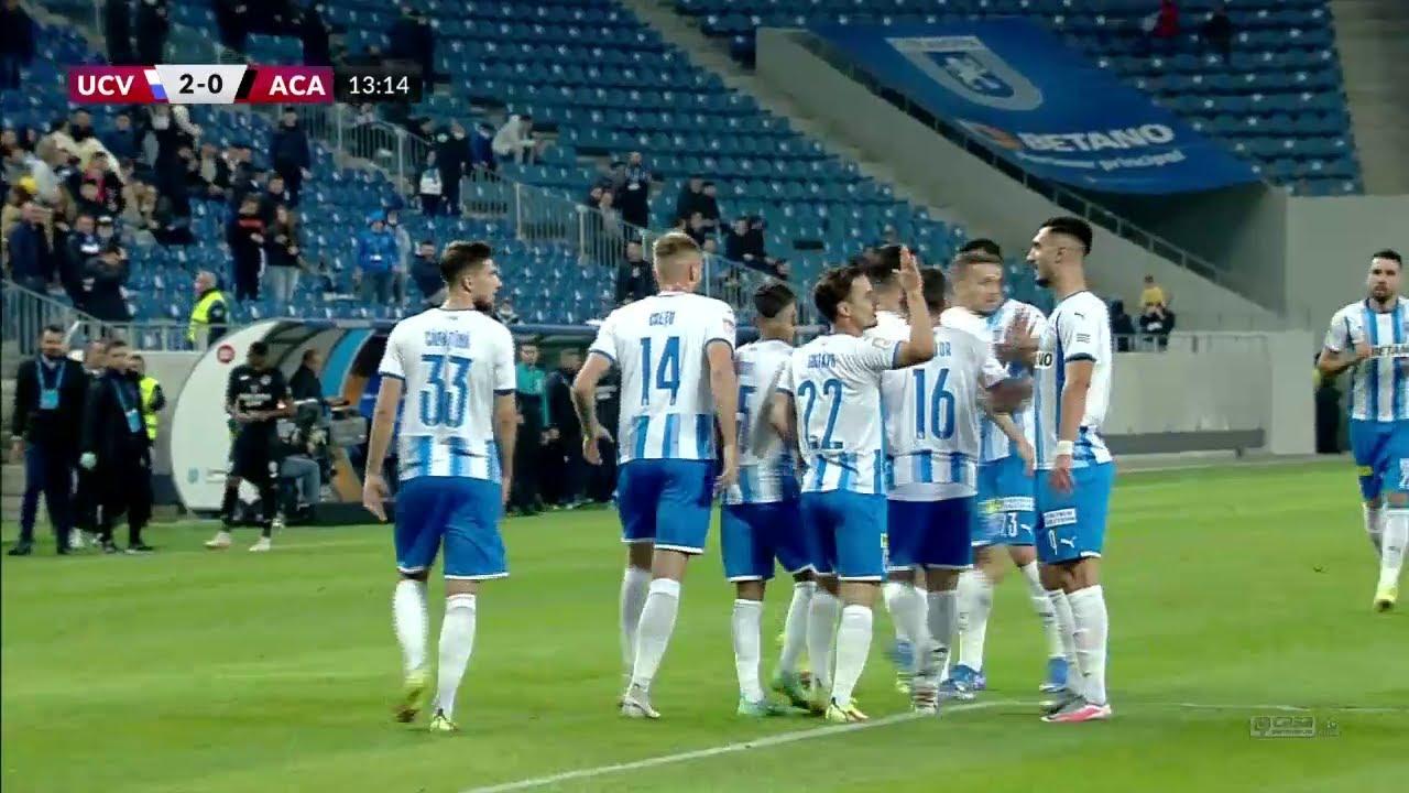 Download REZUMAT | Universitatea Craiova - Academica 5-0. Oltenii dezlănțuiți: trei goluri în 12 minute