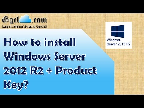 How to install Windows Server 2012 R2 + product key?