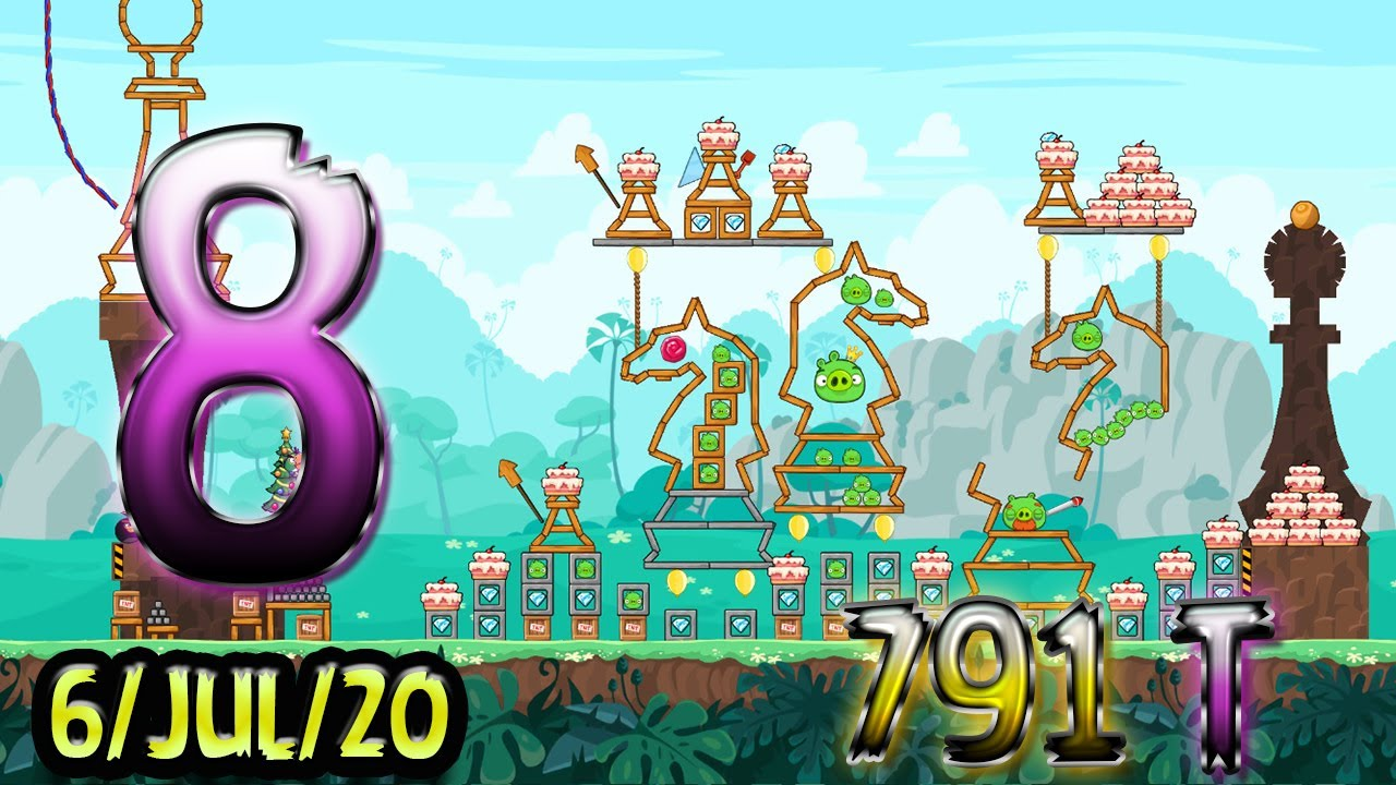 Angry Birds Friends Level 8 Tournament 791 Highscore POWER-UP walkthrough