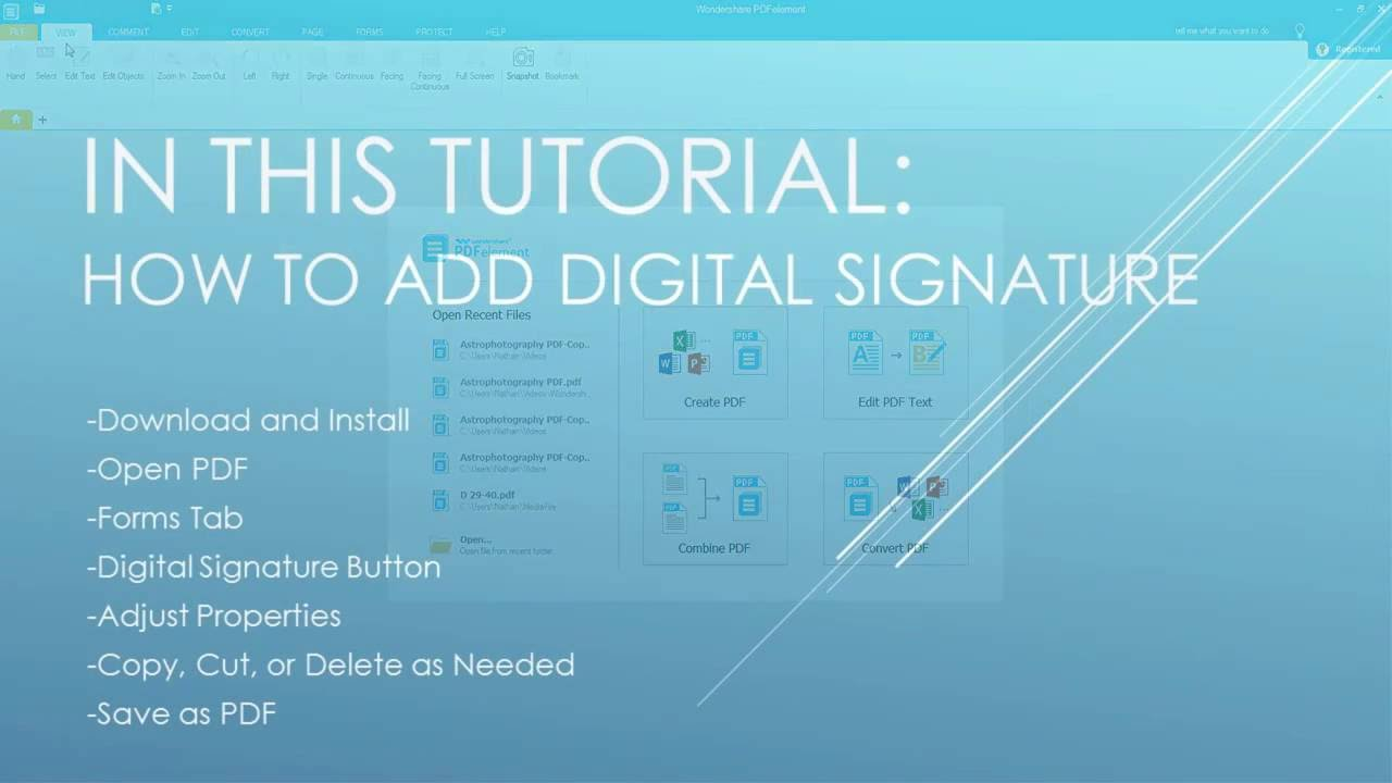 How To Add Digital Signature To Pdf
