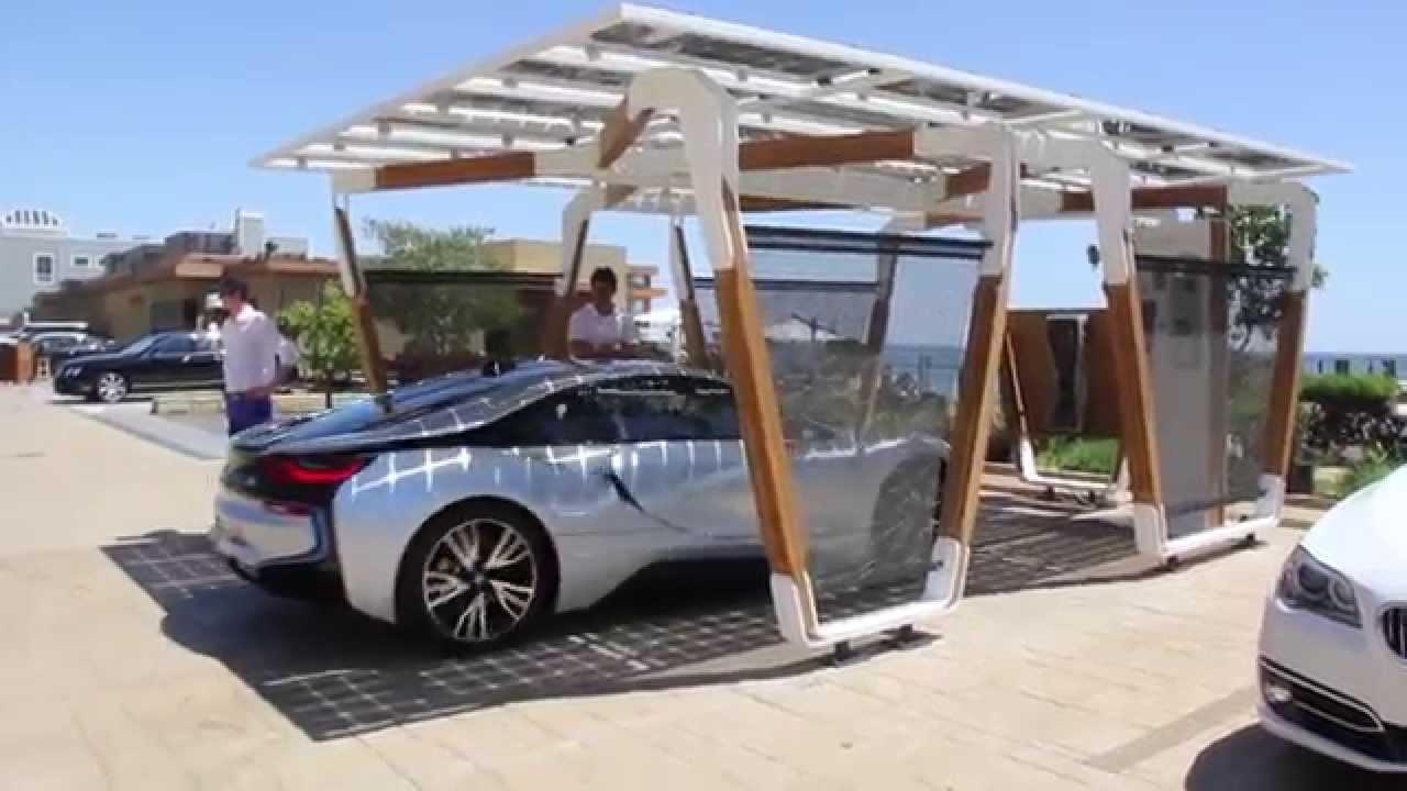 Bmw Designworks Solar Carport And Bmw I Wallbox Pro Youtube