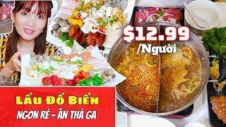 Đi Ăn Lẩu Hải Sản Bao Bụng - Giá Rẻ Hết Hồn - Cali -ALL YOU CAN EAT SEAFOOD HOTPOT- Cuộc Sống Mỹ #91