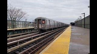 BMT West End Line: R68 (D) Express & Local Train @ 18th Avenue