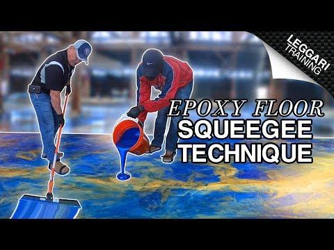 Squeegee Technique On Epoxy Floor | Leggari Training