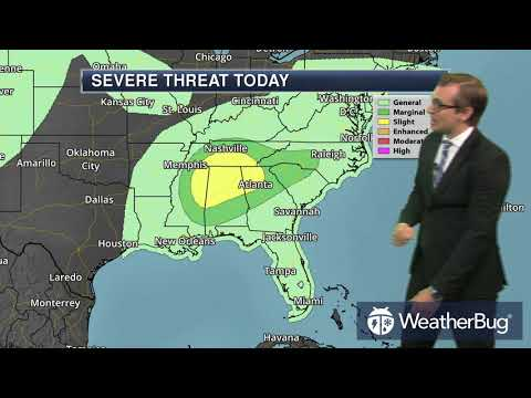 Thursday's South Eastern Regional Weather Outlook for Aug 31, 2017