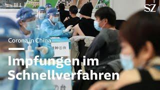 Corona in China: Impfungen im Schnellverfahren