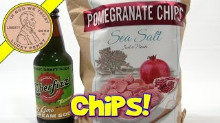 Pomegranate & Sea Salt Chips & Zuber Fizz Key Lime Cream Soda