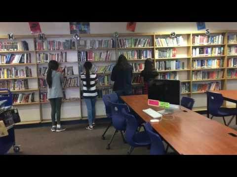 Library Club Griffiths Middle School mannequin Challenge