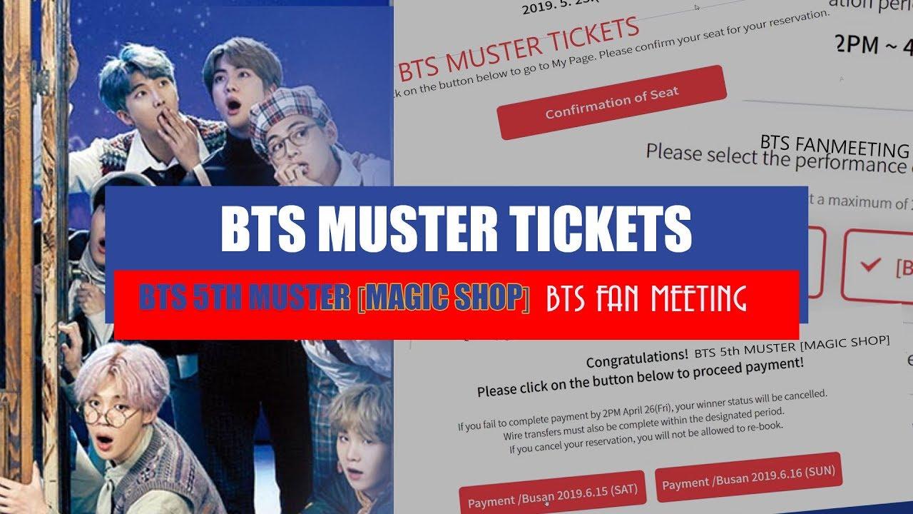 TUTORIAL ♡ BTS MUSTER TICKETS 2019
