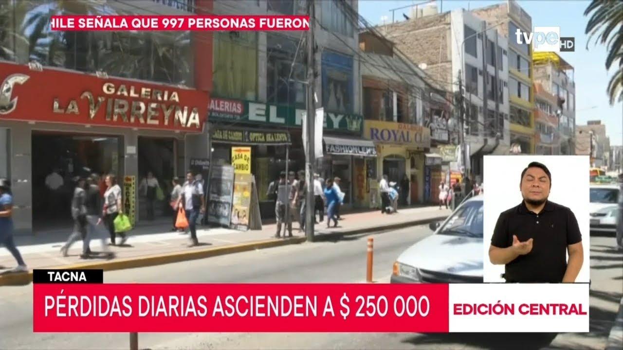 Tacna: crisis en Chile afecta economía de la región