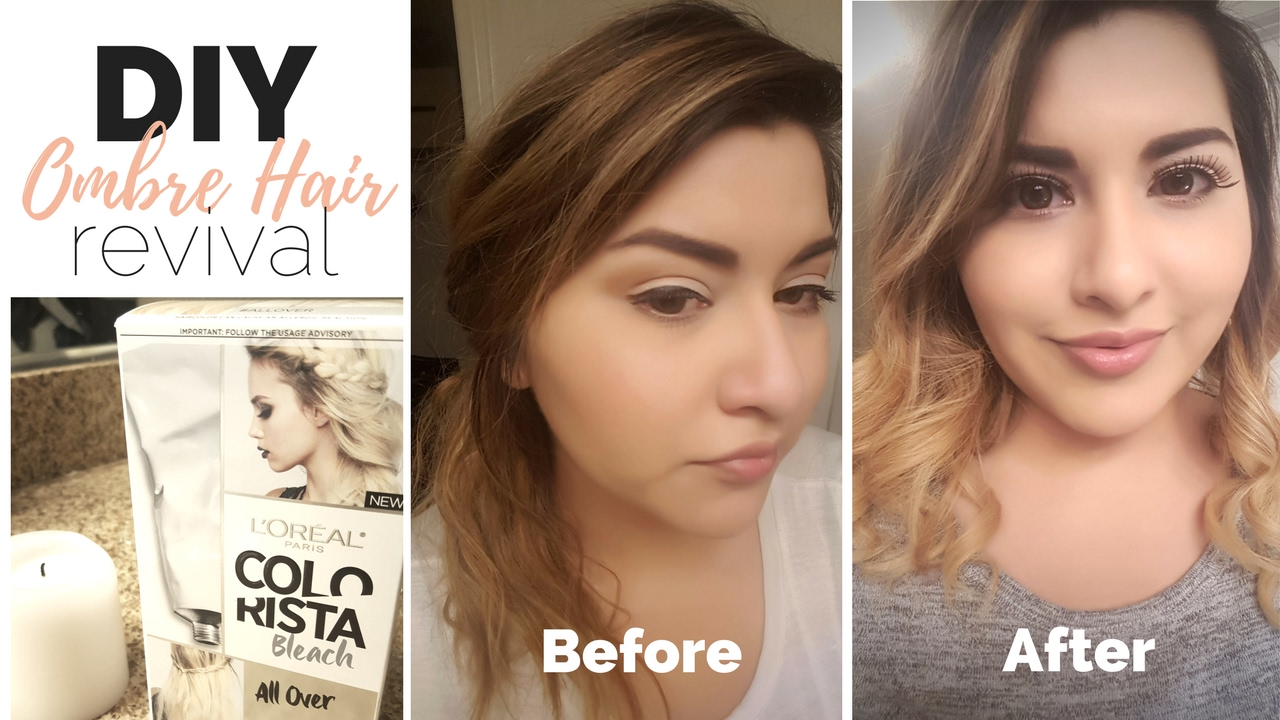 Diy Ombre Hair Fix L Oreal Bleach All Over Youtube