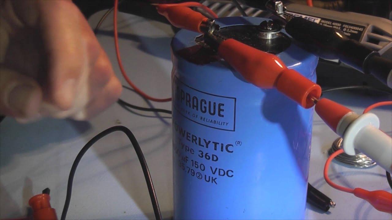 diy capacitor discharge tool [ 1280 x 720 Pixel ]