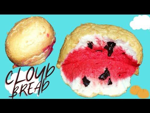 Viral Tiktok Cloud Bread 3 Ingredient Cloud Bread Youtube