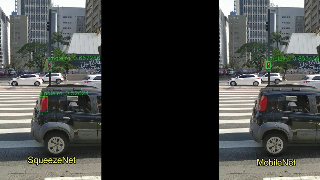 Pedestrian Signal Yolo SqueezeNet SqueezeNet Vs MobileNet